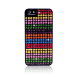 Bling My Thing Extravaganza Stripes for iPhone5 / 5S (Black_Rainbow Stripes)