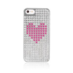 Bling My Thing Extravaganza Heart for iPhone5 / 5S (Silver_Rose Heart)