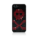 Bling My Thing Extravaganza Skull for iPhone5 / 5S (Black_Skull Light Siam)