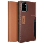 OBLIQ K3 Wallet 2019 for Galaxy S20+ (Brown/Burgundy)
