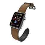 Raptic Hybrid Leather Band for Apple Watch 42/44mm (Brown)
