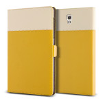 VERUS Crayon Two-tone diary for GALAXY Tab S 8.4 (Mustard_Beige)
