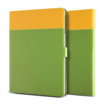 VERUS Crayon Two-tone diary for GALAXY Tab S 10.5 (Green+Mustard)