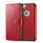 VERUS Dandy Layered Leather for iPhone6/6s (Deep Red-Black)