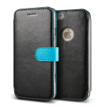 VERUS Vivid Diary Leather for iPhone6 (Black-Blue)