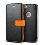 VERUS Vivid Diary Leather for iPhone6 (Black_Orange)