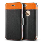 VERUS Vivid Klop Diary for iPhone6 (Black_Orange)