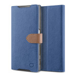 Lific Saffiano Diary for Xperia Z5 (Darkblue_Brown)