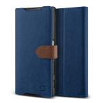 Lific Saffiano Diary for Xperia Z5 (Darkblue+Brown)