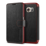 VERUS Dandy Layered Leather for GALAXY S6 (Black+Wine)