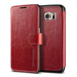 VERUS Dandy Layered Leather for GALAXY S6 (Wine_Black)