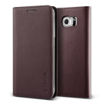 VERUS Genuine leather diary case for GALAXY S6 (Wine)