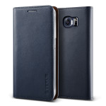 VERUS Genuine leather diary case for GALAXY S6 (Navy)