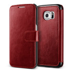 VERUS Dandy Layered Leather for GALAXY S6 Edge (Wine_Black)