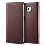 VERUS Genuine leather diary case for GALAXY S6 Edge (Wine)