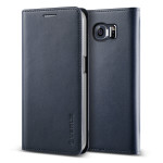 VERUS Genuine leather diary case for GALAXY S6 Edge (Navy)