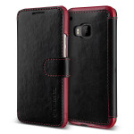 VERUS Dandy Layered Leather for HTC One M9 (Black+Wine)