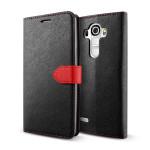 Lific Saffiano Diary for LG G4 (ブラック)