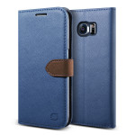 Lific Saffiano Diary for GALAXY S6 (Darkblue+Brown)