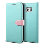 Lific Saffiano Diary for GALAXY S6 (Mint_Pink)
