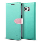 Lific Saffiano Diary for GALAXY S6 Edge (Mint_Pink)