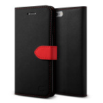Lific Saffiano Diary for iPhone6/6s (Black+Red)