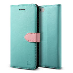 Lific Saffiano Diary for iPhone6/6s (Mint_Pink)