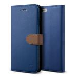 Lific Saffiano Diary for iPhone6 Plus/6s Plus (Darkblue+Brown)