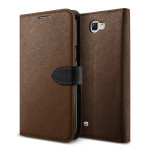 Lific Saffiano Diary for GALAXY Note 2 (Brown_Black)