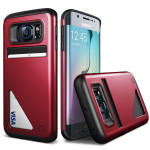 Lific Mighty Card Defense for GALAXY S6 Edge (Kiss Red)
