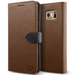 Lific Saffiano Diary for Galaxy Note 5 (Brown+Black)