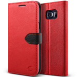 Lific Saffiano Diary for Galaxy S6 Edge Plus (Red+Black)