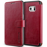 VERUS Dandy Layered Leather for Galaxy S6 Edge Plus (Wine_Black)