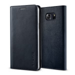 VERUS Genuine leather diary case for GALAXY Note 5 (Navy)