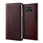 VERUS Genuine leather diary case for Galaxy S6 Edge Plus (Wine)