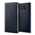 VERUS Genuine leather diary case for Galaxy S6 Edge Plus (Navy)