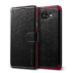 VERUS Dandy Layered Leather for Galaxy A5 2016 (Black+Wine)