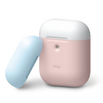elago AIRPODS DUO CASE for AirPods 2nd Generation Wireless Charging Case for AirPods 2nd Wireless (Pink)
