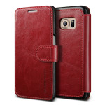 VERUS Dandy Layered Leather for GALAXY S7 (Wine+Black)