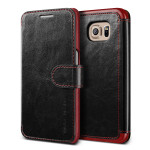 VERUS Dandy Layered Leather for GALAXY S7 Edge (Black+Wine)