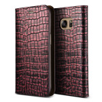 VERUS Genuine Croco diary for GALAXY S7 (Rose Pink)