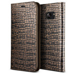 VERUS Genuine Croco diary for GALAXY S7 Edge (Dark Gold)