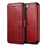 VERUS Dandy Layered Leather for iPhone SE (Wine+Black)