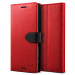 Lific Saffiano Diary for Xperia X Performance (Red+Black)