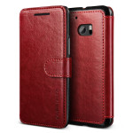 VERUS Dandy Layered Leather for HTC 10 (Wine+Black)