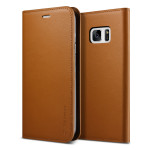 VERUS Genuine leather diary case for GALAXY Note 7 (Brown)