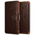 VERUS Dandy Layered Leather for Xperia X Performance (Dark Brown+Brown)