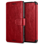 VERUS Dandy Layered Leather for Xperia X Performance (Wine+Black)