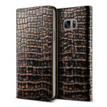 VERUS Genuine Croco diary for GALAXY Note 7 (Dark Gold)