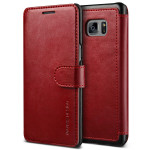 VERUS Dandy Layered Leather for GALAXY Note 7 (Wine+Black)
